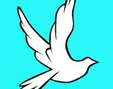 Dibujo Paloma de la paz al vuelo pintado por jajajajjaj