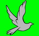 Dibujo Paloma de la paz al vuelo pintado por miamile160