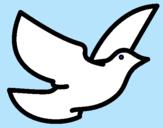 Dibujo Paloma de la paz pintado por jennitha