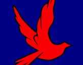 Dibujo Paloma de la paz al vuelo pintado por kgfockqkcbun