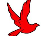 Dibujo Paloma de la paz al vuelo pintado por gwdkxjeimrwz
