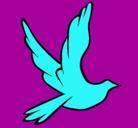 Dibujo Paloma de la paz al vuelo pintado por WEYRRT