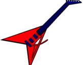 Dibujo Guitarra eléctrica II pintado por lenus