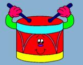 Dibujo Tambor pintado por tambor