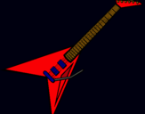 Dibujo Guitarra eléctrica II pintado por mikiiyyy