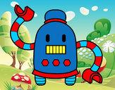 Dibujo Robot con largos brazos pintado por Darkrushun