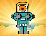Dibujo Robot con luz pintado por adrian15