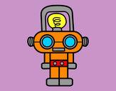 Dibujo Robot con luz pintado por emmaurbano