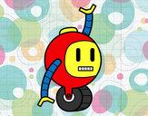 Dibujo Robot con rueda pintado por Darkrushun