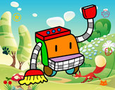 Dibujo Robot de limpieza pintado por 040407