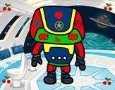 Dibujo Robot fuerte pintado por alicia1260