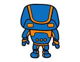 Dibujo Robot fuerte pintado por luism
