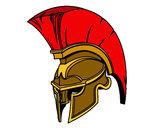 Dibujo Casco romano de guerrero pintado por grafittity