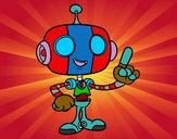 Dibujo Robot simpático pintado por PABLO_HM
