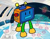 Dibujo Robot televisivo pintado por PAPO2310