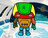 Dibujo Robot fuerte pintado por HUGO10