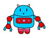 Dibujo Robot con pinzas pintado por reina01