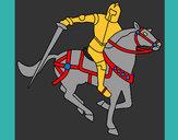 Dibujo Caballero a caballo IV pintado por maruca
