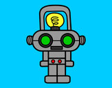Dibujo Robot con luz pintado por eliyau
