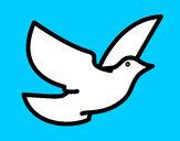 Dibujo Paloma de la paz pintado por lamorales