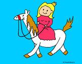 Dibujo Princesa a caballo pintado por DIVINAS123