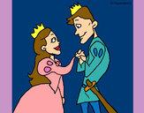 Dibujo Príncipes mirándose pintado por queyla