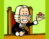 Dibujo Juez pintado por queyla