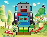 Dibujo Robot alto pintado por elbetito