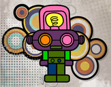 Dibujo Robot con luz pintado por elbetito