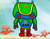 Dibujo Robot fuerte pintado por Roryn