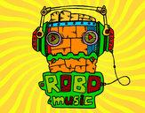 Dibujo Robot music pintado por Ismael04