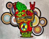 Dibujo Robot Rock and roll pintado por Ismael04