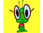 Dibujo Grillo con grandes gafas pintado por sandy87