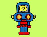 Dibujo Robot con luz pintado por Polito