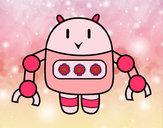 Dibujo Robot con pinzas pintado por Akemi15