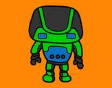 Dibujo Robot fuerte pintado por Polito