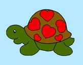 Dibujo Tortuga con corazones pintado por Samson