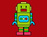 Dibujo Robot alto pintado por mijael