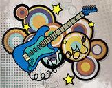 Dibujo Guitarra y estrellas pintado por Nenavel