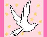 Dibujo Paloma de la paz al vuelo pintado por cutegirl