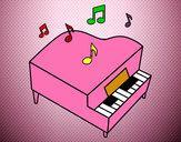 Dibujo Piano de cola pintado por IsaEscrich
