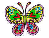 Dibujo Mandala mariposa pintado por ROMAY