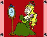 Dibujo Princesa y espejo pintado por alanita04
