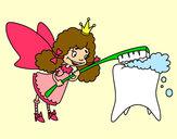 Dibujo Hada de los dientes pintado por Delfi2012