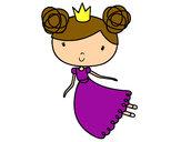 Dibujo Princesa volando pintado por Luujan