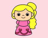 Dibujo Princesa alegre pintado por sarahi123