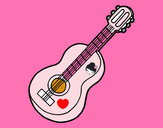 Dibujo Guitarra clásica pintado por danna951