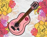 Dibujo Guitarra clásica pintado por vanelove1D