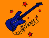 Dibujo Guitarra y estrellas pintado por INVITADO