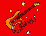Dibujo Guitarra y estrellas pintado por xisquet